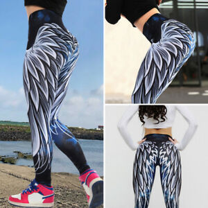 Womens-Ruched-Push-Up-Leggings-Yoga-Pants-Anti-Cellulite-Sports-Scrunch-Trousers