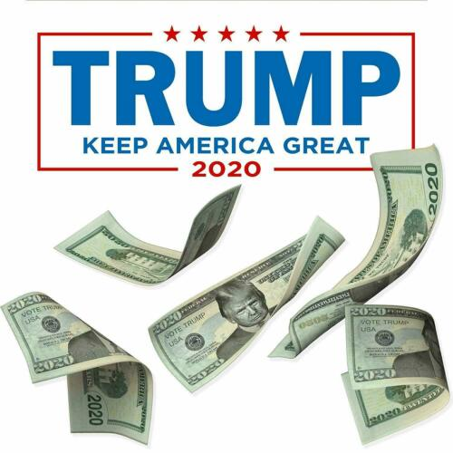 Pack of 50 Donald Trump 2020 Presidential Re-Election Dollar Bill Mt Rushmore
