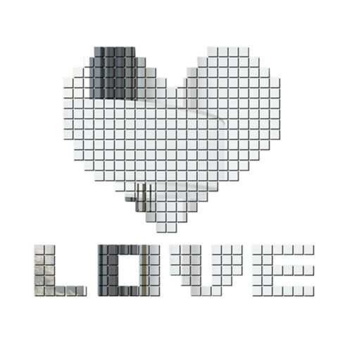US 100pcs Mirror Tile Wall Adhesive Self Room Decor Stick On Sticker Square