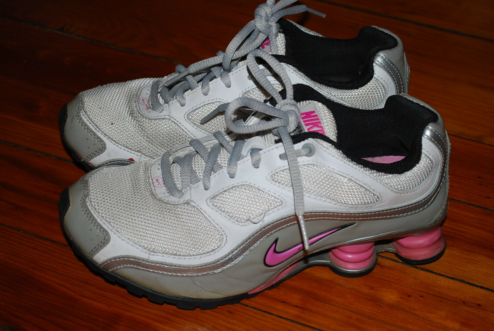 outlet store f1f15 4bc21 Women s Nike Shox Turbo 9 Pink Gray Running Running Running Sneaker (5.5)  1315a1