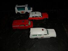 4 LOT 1975 1976 Tomica Tomy Toyota & Cadillac Ambulance Emergency Van Matchbox