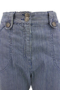 McQueen-Navy-Striped-Cotton-Jeans-size-40-were-299-new-excellent-condition