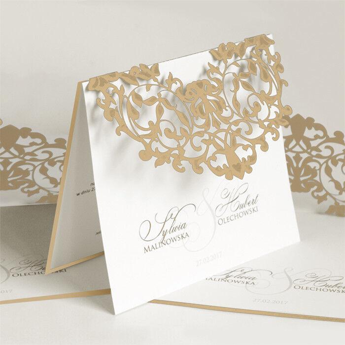 Einladungskarte für Hochzeit 1283p mit Umschlag  Hochzeitseinladungskarte