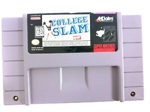 College Slam - SNES Super Nintendo Game Tested - Working - Authentic!