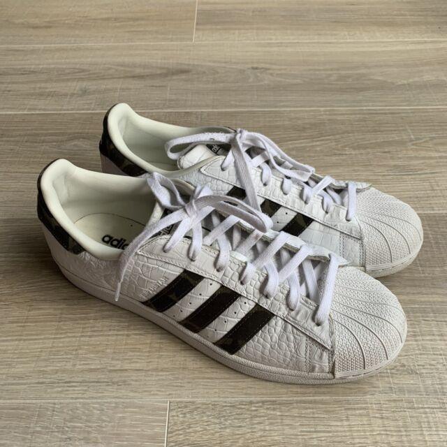 Size 11 - adidas Superstar Croc Leather