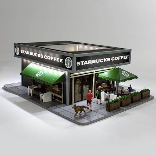 Menards HO calibre Starbucks Coffee Shop edificio Modelo Tren Plus Regalo Gratis