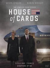 HOUSE OF CARDS SEASON 3 (DVD, 2015, 4-Disc Set) NEW