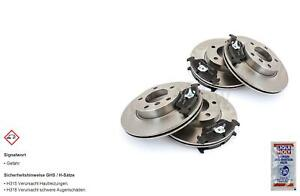 Brake Discs Pads Front Rear For VW Golf IV Cabrio 1E7 6N2
