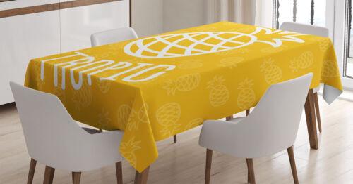 Gelb Tischdecke Exotische Ananas Sommer Wasserfest