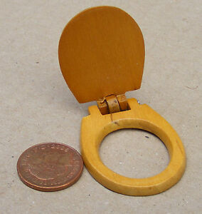 1 12 Scale Wooden Toilet Seat Dolls House Miniature Bathroom Accessory 228