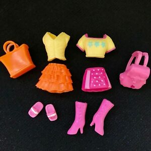 4dad561b6 Cute Polly Pocket Doll Clothes Outfits Pink Orange Skirt