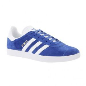 adidas Originals Gazelle Blue White Mens Vintage Shoes Classic SNEAKERS S76227 UK 4.5