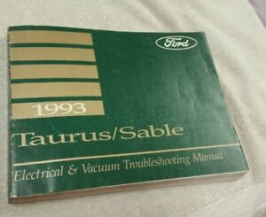 1993 Ford Taurus Mercury Sable Wiring Diagram Manual Ebay