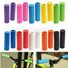Pair BMX MTB Bike Grips Mountain Bicycle Handle Handlebar Soft Rubber Bar End CS