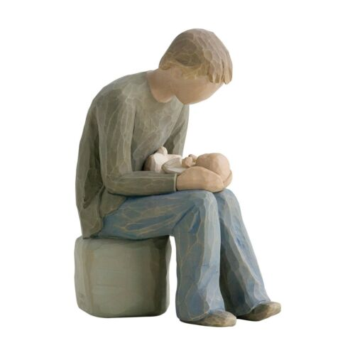 Willow Tree New Dad Figurine 26129 Father /& Baby in  Branded Gift Box