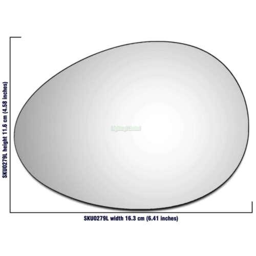 Vidrio Del Espejo De Mano Izquierda Lado Pasajero Para Mini Cooper 2006-2013 0279LS