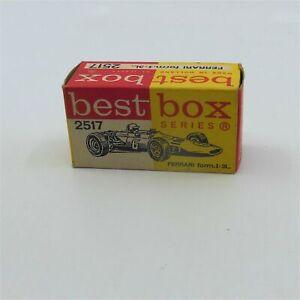Efsi-Ifabex-Best-Box-Holland-2517-Ferrari-Formula-1-Racing-Car-Empty-Box-Only