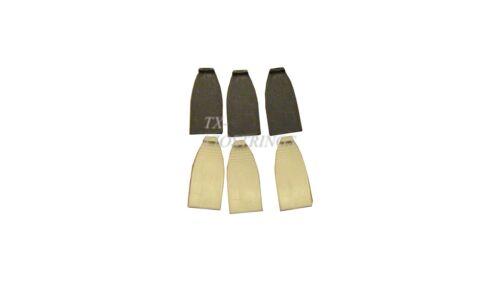 3 Sets Plastic Bass Bow Tips,German, White+Black Piece