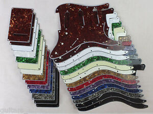 SSS-RAYURE-PLAQUE-PICKGUARD-Ensemble-pour-Import-style-STRATOCASTER-a-14-Colours