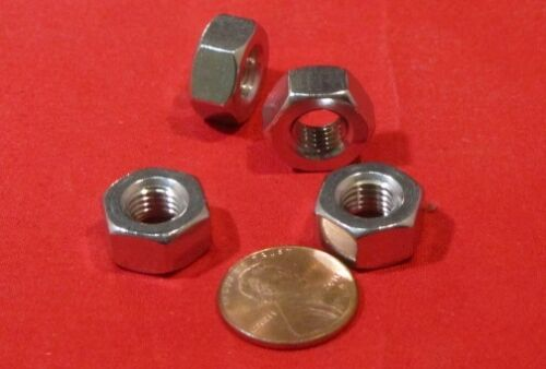 "5//16/""-24 x 9//16/"" Width x 19//64/"" Height Stainless Steel Hex Nut RH -50 Pcs"