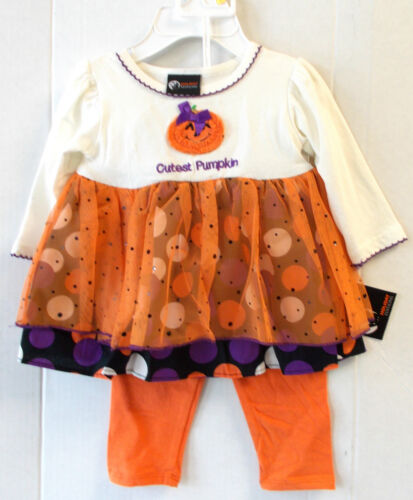 Cutest Pumpkin Child Toddler Costume Dress Pants Infant Toddler NIP