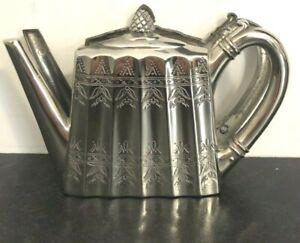 Godinger Silver Plate 1993 Tea Pot  Napkin Holder - Museum Re-Creations