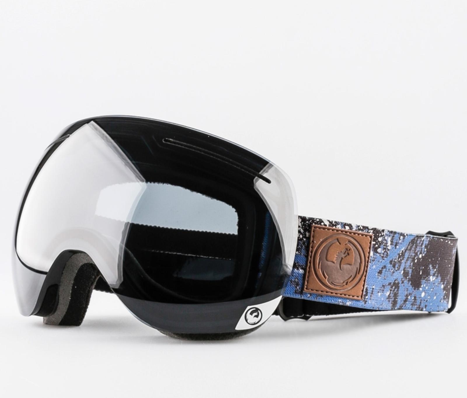 NEW Dragon X1 Goggles-Patina Blau-Dark Smoke+Gelb ROT Ion-SAME DAY SHIPPING
