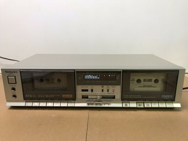 Mooi Vintage Technics Rs-b11w Stereo Double Dual Cassette Deck - Silver -japan Shrink-Proof