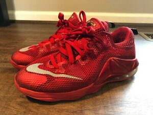 Nike-Lebron-XII-12-Low-University-Red-Basketball-Shoes-GS-7Y-Youth-744547-616