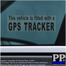 4 x GPS Tracker Fitted Warning Alarm Stickers-BLACK,Car,Van,Taxi Security,Cab