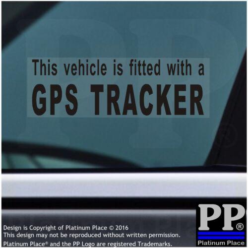 Coche Taxi Furgoneta seguridad de Taxi 4 X Pegatinas de alarma de advertencia de corte de seguimiento GPS-negro