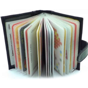 Vente-de-luxe-des-hommes-en-cuir-noir-porte-cartes-de-credit-portefeuille-NB