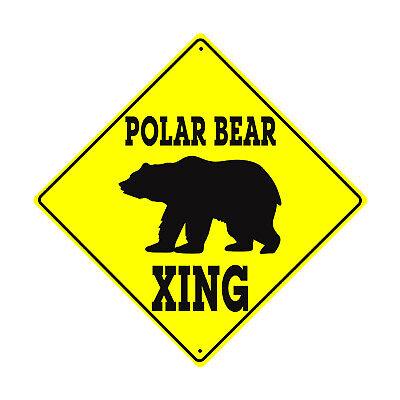 Warning BEAR Crossing Symbol Animal Xing Metal Aluminum Novelty Sign 12x12