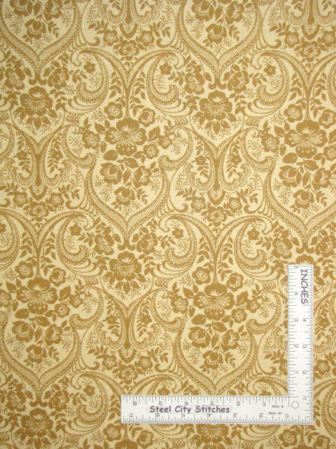 WALLPAPER BY THE YARD NN4102 Damask Contemporary Metallic Gold Wallpaper