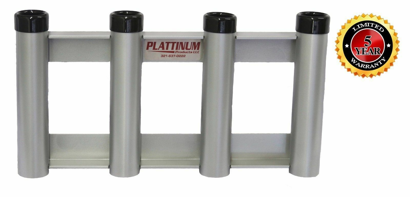 Plattinum Fishing Rod  Holder All Aluminum No Rust Holds 4 Rods Flat Flush Mount  be in great demand