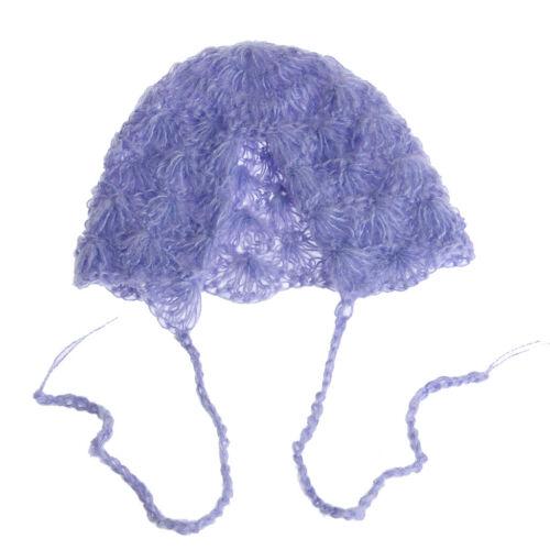 Baby Mohair knitting Bonnet Hat Newborn Photo Photography Prop Cap Outfits