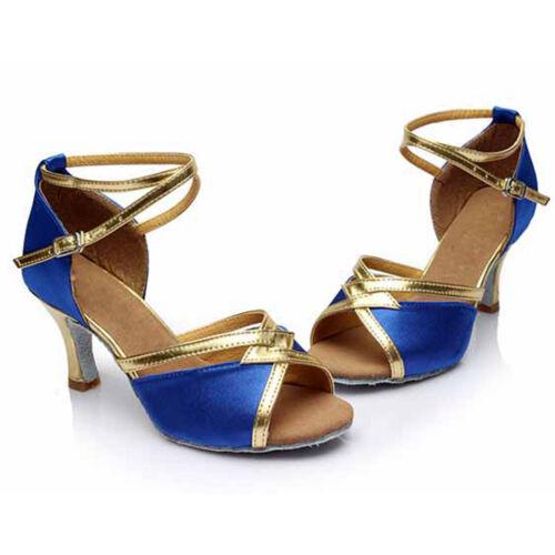 Women Girl lady/'s Ballroom Tango Latin Dance Dancing Shoes heeled Salsa 4 Colors