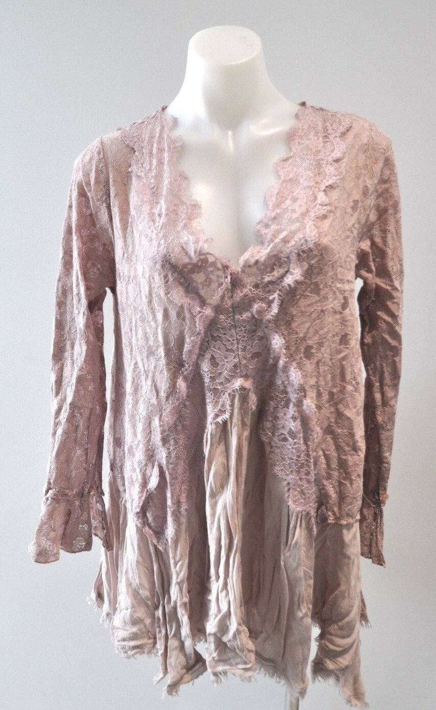 SCANDAL dusty pink lace dress and slip - size S, AU 8-10,  NEW
