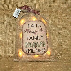 Faith-Family-Friends-Small-Lighted-LED-Burlap-Sack-Primitive-Country-Decor