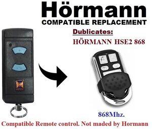 hormann hse2 868mhz garage door gate remote control replacement duplicator ebay. Black Bedroom Furniture Sets. Home Design Ideas