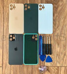 Per-Apple-iPhone-11-MAX-BATTERIA-vetro-PRO-copertura-di-ricambio-GRANDE-FORO-della-macchina