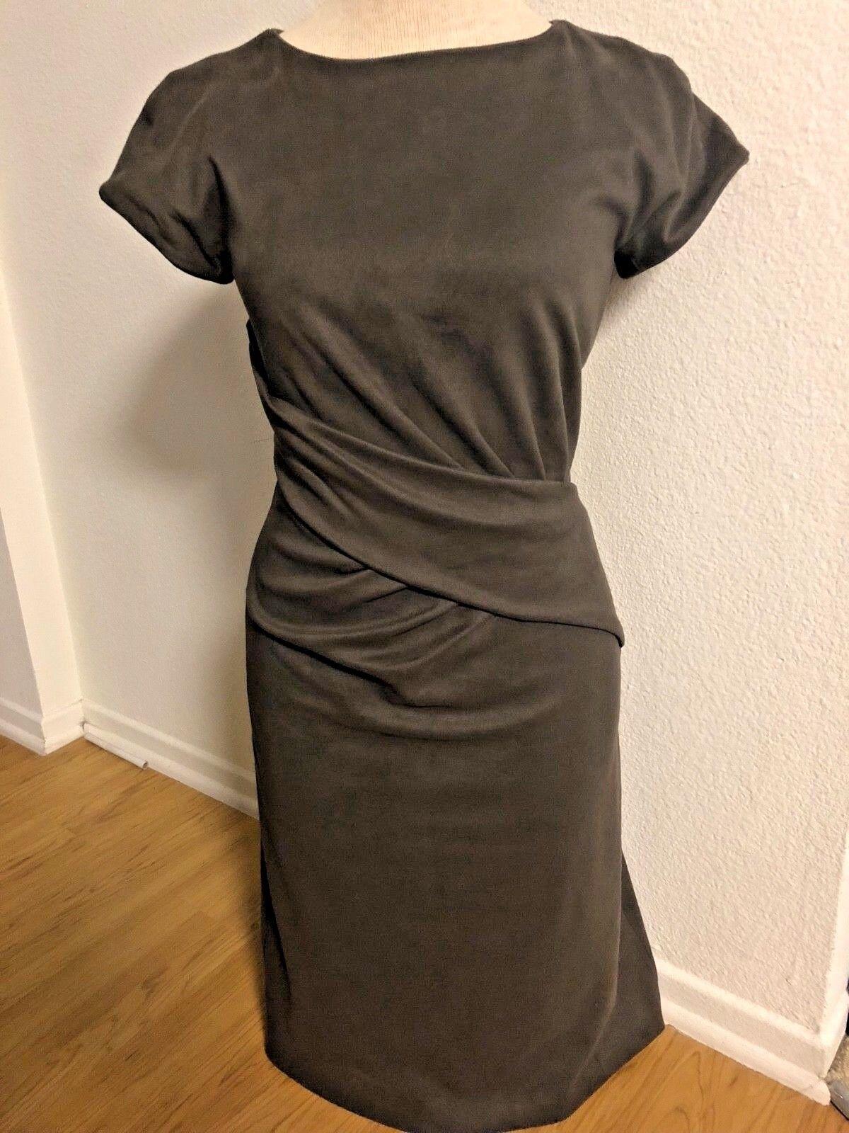 1200 Authentic Giorgio Armani Suede Sheath Dress Brown XSMALL IT 38 US 0