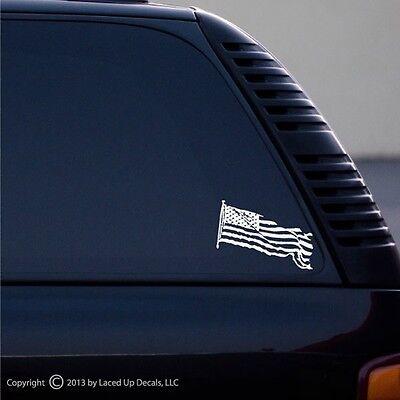 united states waving flag patriotic flag vinyl decal,SM