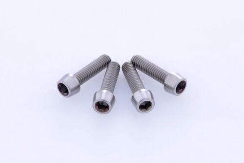 x4 New CNC Titanium Bolt M4x15mm Tapered Head Hex M4 15L Bicycle Bike  Screw