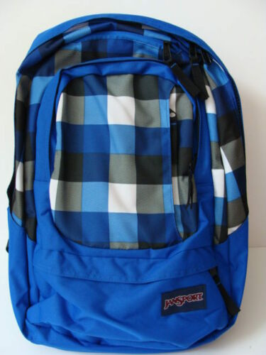 NWT JANSPORT Air Cure Backpack Laptop Book Bag Blue Black School Pack Computer