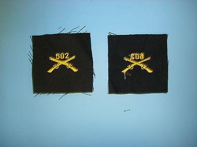 OD elas b00962-504 WW 2 US Army Officers Infantry Crossed Rifles cloth 504th lt