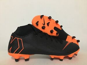 Nike Mercurial Superfly 6 Academy FG Soccer Cleats Black Orange SZ ... c10d3c992b
