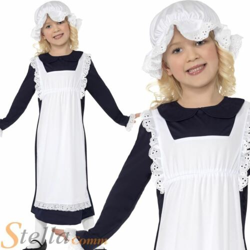 Girls Victorian Poor Girl Costume Book Week Child Fancy Dress Outfit