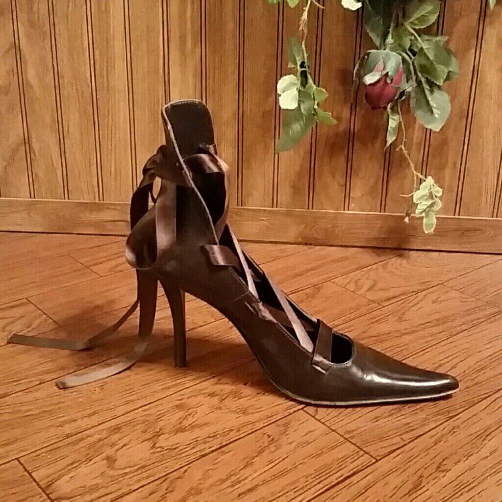 ordinare on-line Marrone Aldo Tie Wrap Pumps Heels Heels Heels scarpe  100% nuovo di zecca con qualità originale