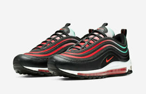 Details about MEN'S NIKE AIR MAX 97 CASUAL SHOES BLACKEMBER GLOW WHITE BLUE FURY CJ0768 001